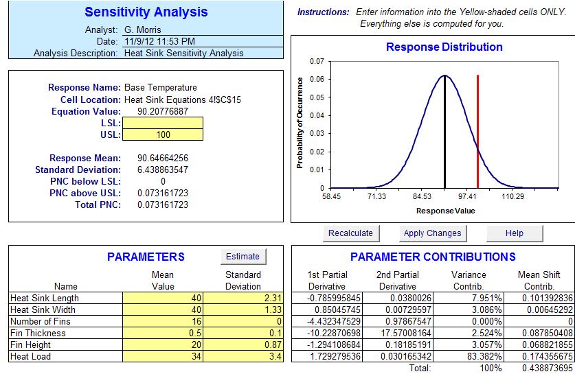 Sensitivity Analysis Software for Excel | SDI Tools: Apogee